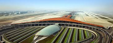 Side View of the Daxing airport Beijing China