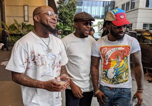 Davido and Ubi Franklin hanging out