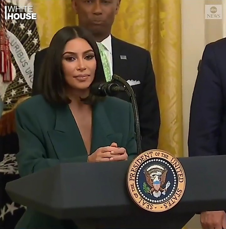 Kim Kardashian west at the white house